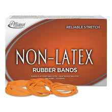 Load image into Gallery viewer, Non-Latex Rubber Bands, Sz. 117b, Orange, 7 X 1/8, 250 Bands/1lb Box