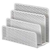 Load image into Gallery viewer, Urban Collection Punched Metal Letter Sorter, 6 1/2 X 3 1/4 X 5 1/2, White