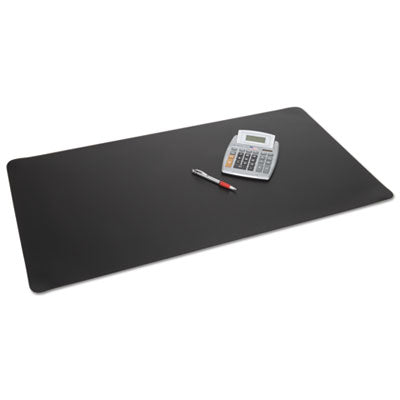 Rhinolin Ii Desk Pad With Microban, 24 X 17, Black