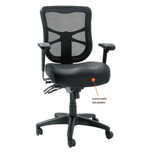 Load image into Gallery viewer, Alera Elusion Series Mesh Mid-Back Multifunction Chair, Black Leather