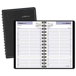 DAILY APPOINTMENT BOOK WITH15-MINUTE APPOINTMENTS, 8 X 4 7/8, BLACK, 2019