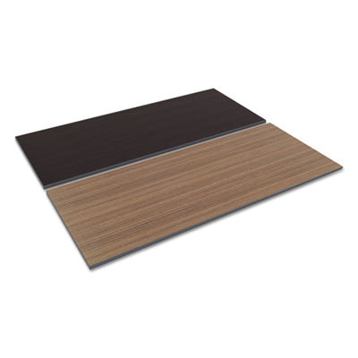 Reversible Laminate Table Top, Rectangular, 71 1/2w X 29 1/2d, Espresso/walnut
