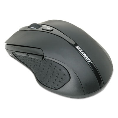 7025016518938, OPTICAL WIRELESS MOUSE, 2.4 GHZ FREQUENCY/26 FT WIRELESS RANGE, RIGHT HAND USE, BLACK