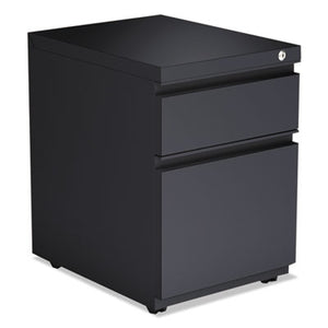 2-Drawer Metal Pedestal Box File W/full Length Pull, 14 7/8w X 19 1/8d, Charcoal