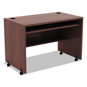 ALERA VALENCIA MOBILE WORKSTATION DESK, 41 3/8 X 23 5/8 X 30, MED CHERRY