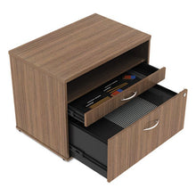 Load image into Gallery viewer, Alera Open Office Series Low File Cabinet Credenza, 29 1/2x19 1/8x22 7/8,walnut