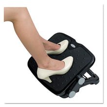 Load image into Gallery viewer, Soft Cushioned Ergonomic Footrest, 14w X 19 5/8d X 3 3/4 To 7 1/2h, Black