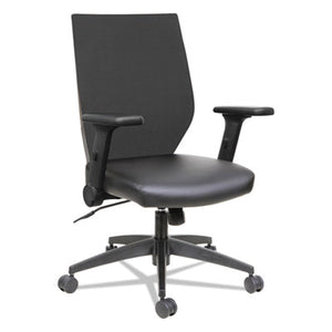 Alera Eb-T Series Syncho Mid-Back Flip-Arm Chair, Black