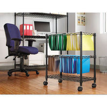 Load image into Gallery viewer, Two-Tier Rolling File Cart, 26w X14d X 29-1/2h, Black