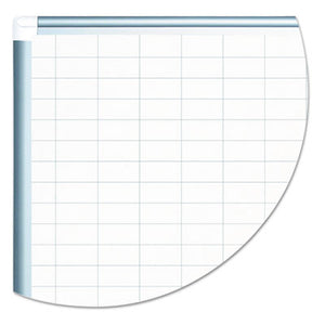 Grid Planning Board W/ Accessories, 1 X 2 Grid, 48 X 36, White/silver