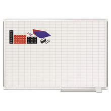 Load image into Gallery viewer, Grid Planning Board W/ Accessories, 1 X 2 Grid, 48 X 36, White/silver