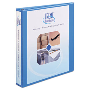 "Heavy-Duty Non Stick View Binder W/slant Rings, 1"" Cap, Light Blue"