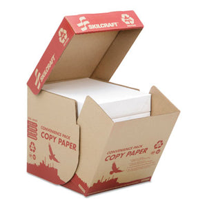 7530016111896 SKILCRAFT RECYCLED COPY PAPER, 92 BRIGHT, 20LB, 8.5 X 11, WHITE, 500 SHEETS/REAM, 5 REAMS/CARTON