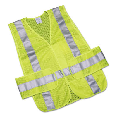 8415015984875, SKILCRAFT, SAFETY VEST-CLASS 2 ANSI 107 2010 COMPLIANT, LIME/SILVER, ONE SIZE