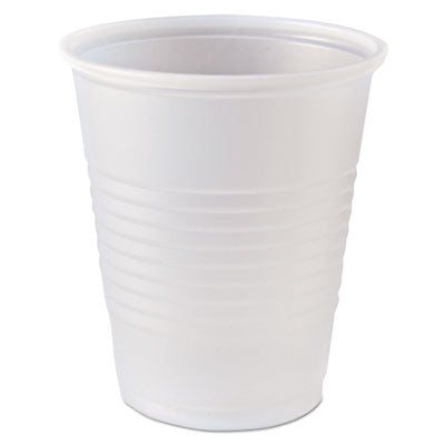 Rk Ribbed Cold Drink Cups, 5 Oz, Clear, 2500/carton