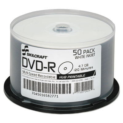 7045016582771, INKJET PRINTABLE DVD-R, 50/PACK