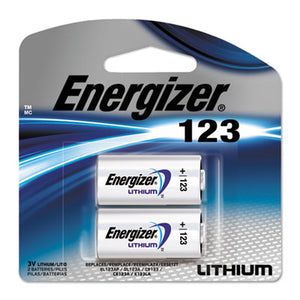 Lithium Photo Battery, 123, 3v, 2/pack