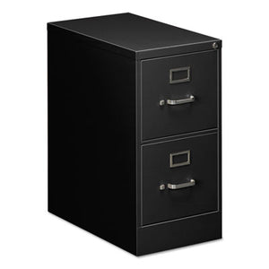TWO-DRAWER ECONOMY VERTICAL FILE CABINET, LETTER, 15W X 26 1/2D X 29H, BLACK