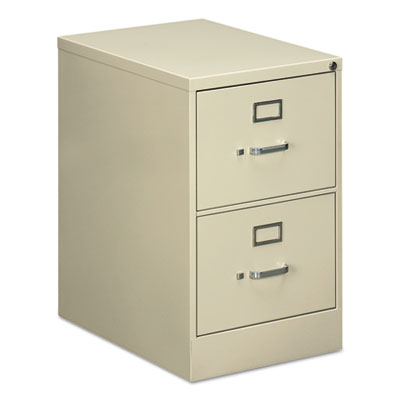 TWO-DRAWER ECONOMY VERTICAL FILE CABINET, LEGAL, 18 1/4W X 25D X 29H, PUTTY