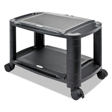 "Load image into Gallery viewer, 3-In-1 Storage Cart And Stand, 21 5/8""w X 13 3/4""d X 24 3/4""h,black/gray"