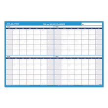 Load image into Gallery viewer, 90/120-Day Undated Horizontal Erasable Wall Planner, 36 X 24, White/blue,