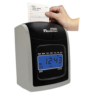 Atr480 Time Clock Bundle, Lcd, Automatic, White/charcoal