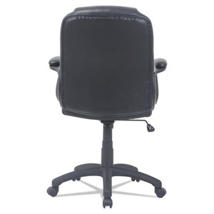 Alera Cc Series Executive Mid-Back Leather Chair, Black
