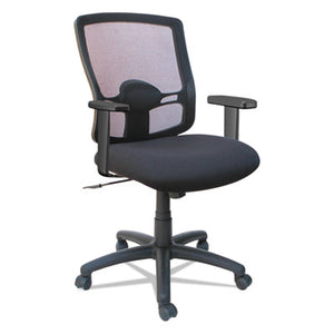 ALERA ETROS SERIES MESH MID-BACK PETITE SWIVEL/TILT CHAIR, BLACK