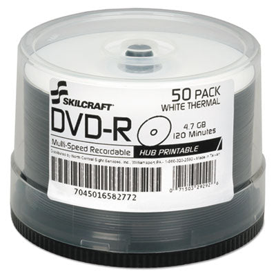 7045016582772, LASER PRINTABLE DVD-R, 50/PACK