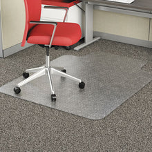 Load image into Gallery viewer, OCCASIONAL USE STUDDED CHAIR MAT FOR FLAT PILE CARPET, 36 X 48, LIPPED, CLEAR