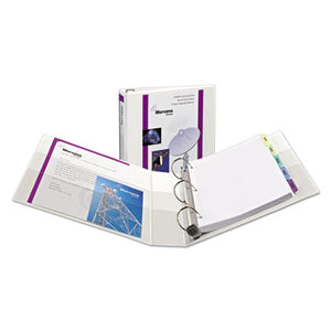 "Heavy-Duty View Binder W/locking 1-Touch Ezd Rings, 1 1/2"" Cap, White"