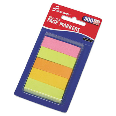 7510014214751 SKILCRAFT SELF-STICK TABS/PAGE MARKERS, 2
