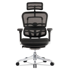 Ergohuman Elite High-Back Chair, Black Seat/black Back