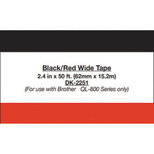 "Load image into Gallery viewer, Continuous Paper Label Tape, 2-1/2"" X 50 Ft, Black/white"