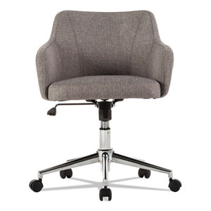 ALERA CAPTAIN SERIES MID-BACK CHAIR, GRAY TWEED