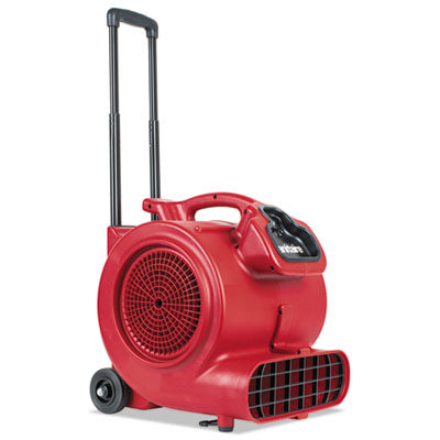 DRY TIME AIR MOVER WITH WHEELS AND HANDLE, 1281 CFM, RED, 20 FT CORD