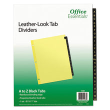 Load image into Gallery viewer, Preprinted Black Leather Tab Dividers, 25-Tab, Letter
