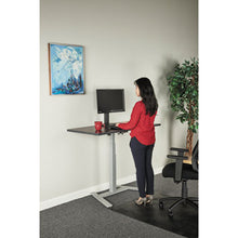 "Load image into Gallery viewer, Adaptivergo 1-Column Electric Adjustable Table Base, 24 3/4"" To 43 1/4""h, Gray"