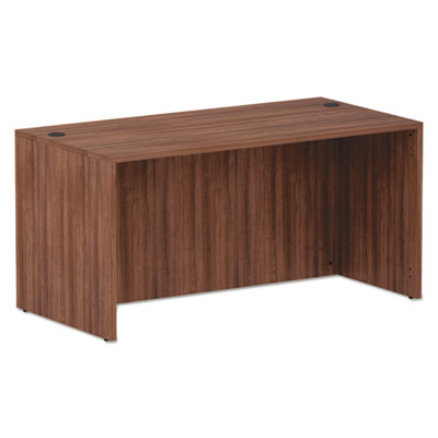 ALERA VALENCIA SERIES STRAIGHT FRONT DESK SHELL, 59.38X29.5X29.63, MOD WALNUT