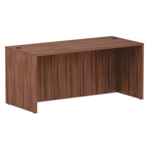 ALERA VALENCIA SERIES STRAIGHT FRONT DESK SHELL, 65 X 29.5 X 29.63, MOD WALNUT