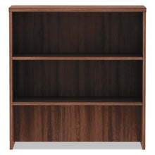 "Load image into Gallery viewer, ALERA VALENCIA SERIES HUTCH, 3 COMPARTMENTS, 34"" X 15"" X 35 1/2"", MODERN WALNUT"