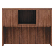 Load image into Gallery viewer, ALERA VALENCIA SERIES HUTCH, 3 COMPARTMENT, 47W X 15D X 35 1/2H, MODERN WALNUT