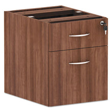 Load image into Gallery viewer, ALERA VALENCIA SERIES HANGING BOX/FILE PEDESTAL, 15.63X20.5X19.25, MOD WALNUT