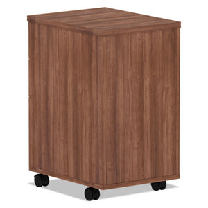 ALERA VALENCIA SERIES MOBILE BOX/BOX/FILE PEDESTAL, 15.88X20.5X28.38, MOD WALNUT