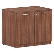 Load image into Gallery viewer, ALERA VALENCIA SERIES STORAGE CABINET, 34W X 22 7/8D X 29 5/8H, MODERN WALNUT