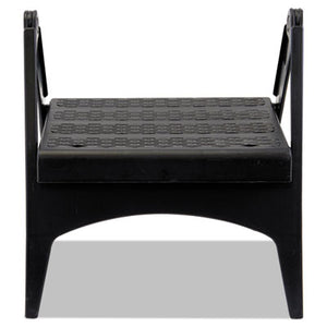 Quik-Fold Plastic Step Stool, Arched Foot Guides, 13 X 13 1/2 X 12, Black