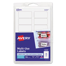 Load image into Gallery viewer, Removable Multi-Use Labels, 3/4 X 1 1/2, White, 504/pack