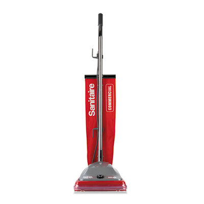 TRADITION UPRIGHT VACUUM WITH SHAKE-OUT BAG, 16 LB, RED