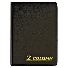 Load image into Gallery viewer, Account Book, 2 Column, Black Cover, 80 Pages, 7 X 9 1/4