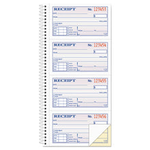 Load image into Gallery viewer, Two-Part Rent Receipt Book, 2 3/4 X 4 3/4, Carbonless, 200 Forms